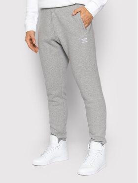 adidas adidas Spodnie dresowe adicolor Essentials Trefoil H34659 Szary Slim Fit