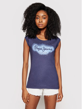 Pepe Jeans Pepe Jeans T-Shirt Camila PL504827 Granatowy Regular Fit