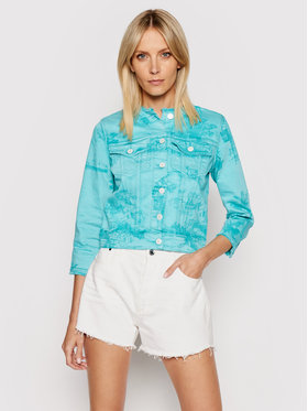 Guess Guess Giacca di jeans Denim W1GN14 D2G6M Verde Regular Fit