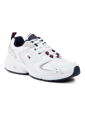 Tommy Jeans Tommy Jeans Laisvalaikio batai Heritage Sneaker EM0EM00373 Balta