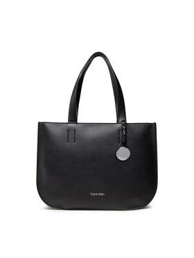 Calvin Klein Calvin Klein Дамска чанта Ck Luxe Shopper Md K60K608433 Черен