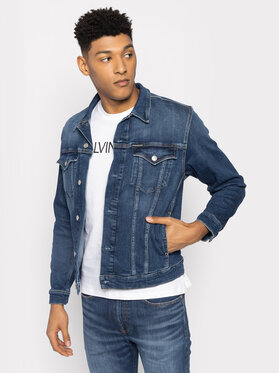 Calvin Klein Jeans Calvin Klein Jeans Jeansová bunda J30J314664 Modrá Regular Fit