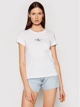 Calvin Klein Jeans Calvin Klein Jeans T-Shirt J20J216577 Bílá Slim Fit