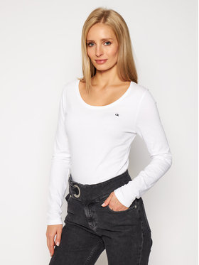 Calvin Klein Calvin Klein Halenka Sleeve K20K202438 Bílá Slim Fit