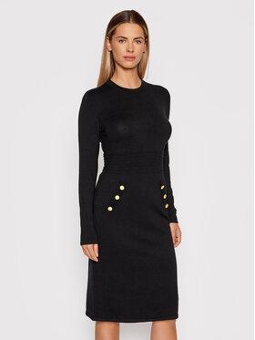 DKNY DKNY Úpletové šaty DD0HN37A Čierna Regular Fit