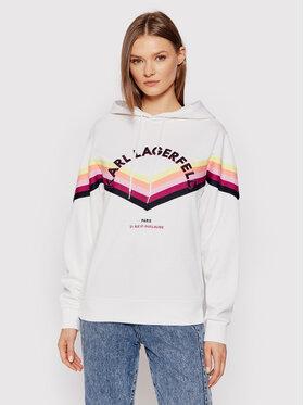 KARL LAGERFELD KARL LAGERFELD Sweatshirt Stripe Tape 215W1807 Blanc Regular Fit