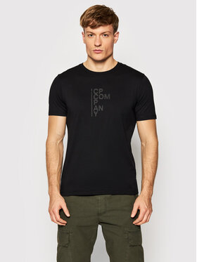 C.P. Company C.P. Company T-Shirt Vertical Logo 11CMTS043A 005100W Μαύρο Regular Fit