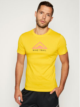 NIKE NIKE T-shirt technique Dri-FIT Trail Running CT3857 Jaune Regular Fit