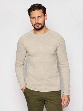 Jack&Jones Jack&Jones Sweter Hill 12157321 Beżowy Regular Fit
