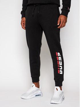 Guess Guess Spodnie dresowe U0BA49 K9V31 Czarny Regular Fit