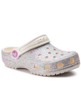 Crocs Crocs Чехли Classic Glitter Clog K 205441 Сребрист
