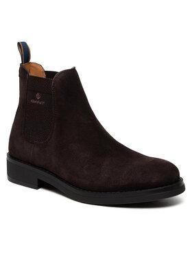 Gant Gant Členková obuv s elastickým prvkom Brookly 23653178 Hnedá