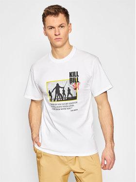HUF HUF T-Shirt KILL BILL Death List TS01535 Biały Regular Fit