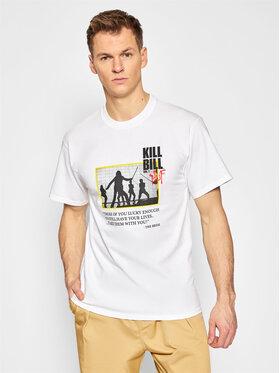 HUF HUF T-shirt KILL BILL Death List TS01535 Blanc Regular Fit