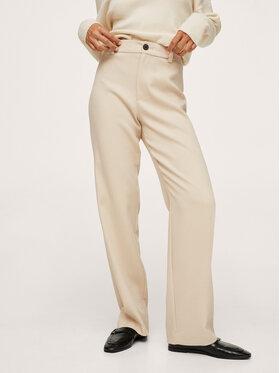 Mango Mango Spodnie materiałowe Larios 17065925 Beżowy Regular Fit
