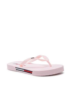 Tommy Jeans Tommy Jeans Japonki Essential Flat Beach Sandal EN0EN01433 Różowy
