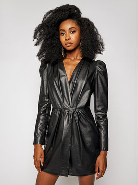 LaMarque LaMarque Robe en cuir Earline 6334 Noir Regular Fit