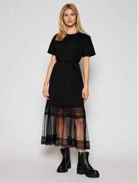 TwinSet TwinSet Sukienka codzienna 211TT2290 Czarny Regular Fit