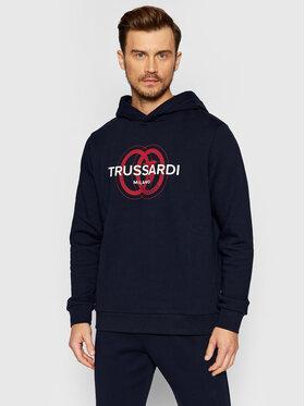 Trussardi Trussardi Sweatshirt Logo 52F00179 Bleu marine Regular Fit