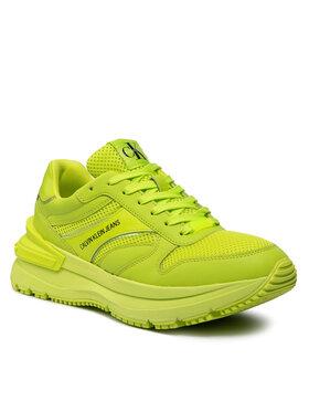Calvin Klein Jeans Calvin Klein Jeans Sneakersy Runner Laceup Sneaker Snap YM0YM00198 Zielony