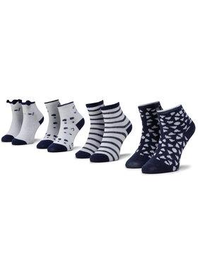 Mayoral Mayoral Set di 4 paia di calzini lunghi da bambini 9240 Bianco
