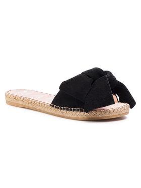 Manebi Manebi Εσπαντρίγιες Sandals With Bow K 1.0 J0 Μαύρο