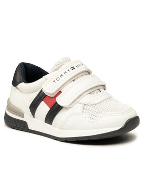 Tommy Hilfiger Tommy Hilfiger Sneakersy Low Cut Velcro Sneaker T3B4-30723-0208X008 M Biały
