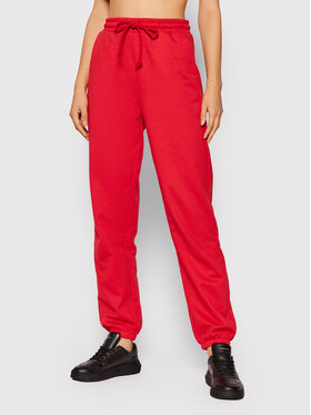 Vero Moda Vero Moda Spodnie dresowe Octavia 10251096 Czerwony Regular Fit
