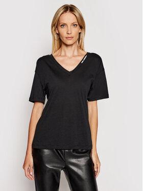 KARL LAGERFELD KARL LAGERFELD T-shirt Double V Neck 211W1701 Noir Regular Fit