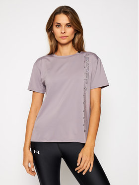 Under Armour Under Armour Funkčné tričko Ua Armour Sport Graphic Short Sleeve 1356301 Fialová Loose Fit