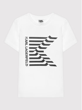 KARL LAGERFELD KARL LAGERFELD T-Shirt Z25302 S Biały Regular Fit
