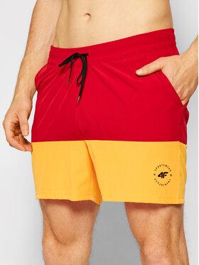 4F 4F Plážové šortky SKMT002 Červená Regular Fit