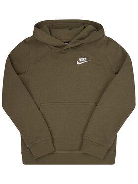 NIKE NIKE Bluză Sportswear Club BV3757 Verde Regular Fit
