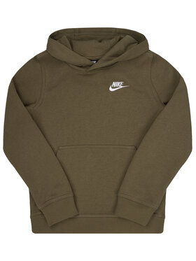 NIKE NIKE Mikina Sportswear Club BV3757 Zelená Regular Fit