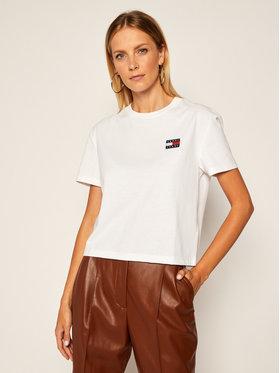 Tommy Jeans Tommy Jeans Marškinėliai Badgre DW0DW06813 Balta Regular Fit