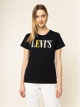 Levi's® Levi's® Tričko The Perfect Graphic Tee 17369-0959 Čierna Regular Fit