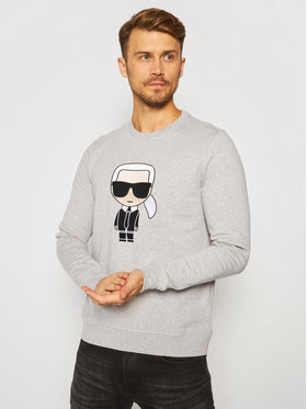 KARL LAGERFELD KARL LAGERFELD Mikina Sweat 705040 502950 Šedá Regular Fit