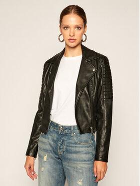 Calvin Klein Jeans Calvin Klein Jeans Kožená bunda J20J214185 Čierna Slim Fit