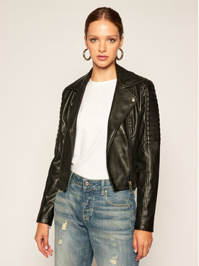 Calvin Klein Jeans Calvin Klein Jeans Μπουφάν δερμάτινο J20J214185 Μαύρο Slim Fit