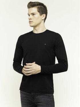 Tommy Hilfiger Tommy Hilfiger Тениска с дълъг ръкав Stretch Tee MW0MW10804 Черен Slim Fit