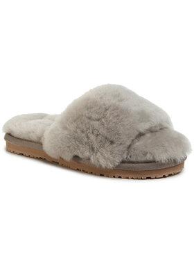 Mou Mou Klapki Sheepskin Fur Slide Slipper FW161001L Szary