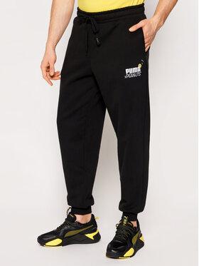 Puma Puma Teplákové nohavice PEANUTS 530615 Čierna Regular Fit
