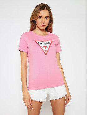 Guess Guess T-Shirt Original W1RI00 I3Z11 Różowy Regular Fit