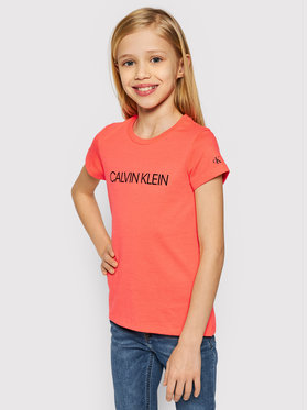 Calvin Klein Jeans Calvin Klein Jeans T-Shirt Institutional IG0IG00380 Oranžová Regular Fit