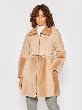 Peserico Peserico Báránybőr kabát S21327C03 Bézs Oversize