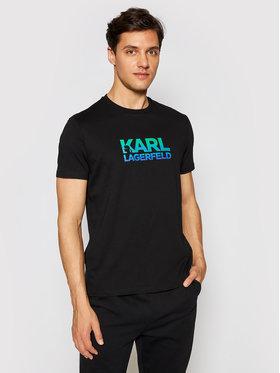 KARL LAGERFELD KARL LAGERFELD T-shirt Crewneck 755050 511224 Crna Regular Fit