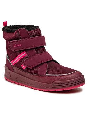 Clarks Clarks Cizme de zăpadă Jumperspring Y 261558367 Vișiniu