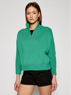 Tommy Hilfiger Tommy Hilfiger Sweater WW0WW30421 Zöld Oversize