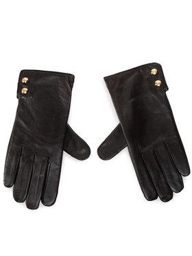 Lauren Ralph Lauren Lauren Ralph Lauren Rękawiczki Damskie Leather Button Glove 454823002001 Czarny