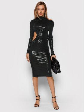 ROTATE ROTATE Sukienka koktajlowa Alice Dress RT625 Czarny Slim Fit
